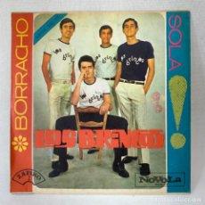 Disques de vinyle: SINGLE LOS BRINCOS - BORRACHO - ESPAÑA - AÑO 1965. Lote 276489608