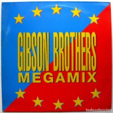 Discos de vinilo: GIBSON BROTHERS - MEGAMIX - MAXI BCM RECORDS 1990 GERMANY BPY. Lote 276489938
