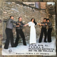 Disques de vinyle: ORQUESTA TAMBA 8 CON BLANCA - VIVIR SIN TI . SINGLE . 1976 BCD. Lote 276494823