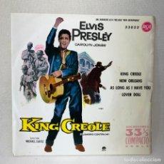 Discos de vinilo: EP ELVIS PRESLEY - KING CREOLE / EL BARRIO CONTRA MI - ESPAÑA - AÑO 1961. Lote 276533038