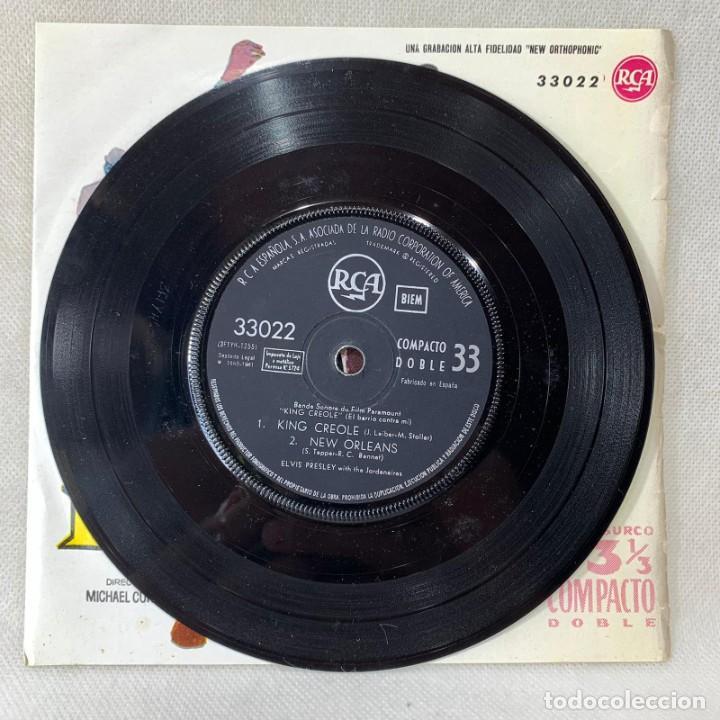 Discos de vinilo: EP ELVIS PRESLEY - KING CREOLE / EL BARRIO CONTRA MI - ESPAÑA - AÑO 1961 - Foto 3 - 276533038