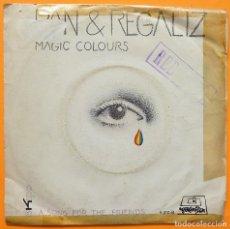 Disques de vinyle: PAN Y REGALIZ: MAGIC COLOURS + 1 - SINGLE - 1971 - DIMENSIÓN - VINILO CASI NUEVO. Lote 276534538