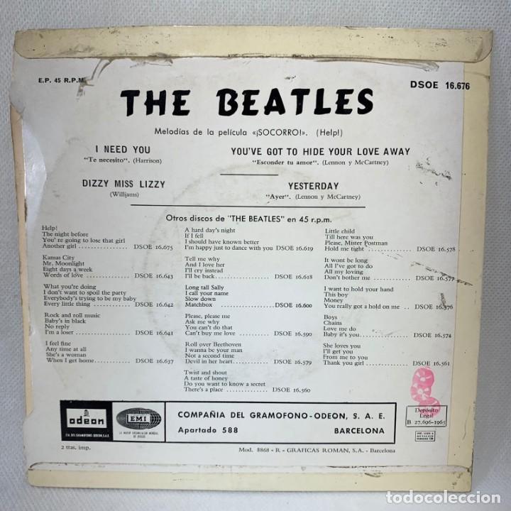 Discos de vinilo: EP THE BEATLES - YESTERDAY - ESPAÑA - AÑO 1965 - Foto 4 - 276535108
