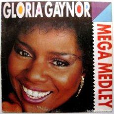 Discos de vinilo: GLORIA GAYNOR FEATURING WRECIA FORD & ROYAL VALOURE - MEGA MEDLEY - MAXI MAX MUSIC 1990 BPY. Lote 276559303