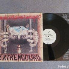 Disques de vinyle: EXTREMODURO: DONDE ESTAN MIS AMIGOS (L.P.) 1º EDICION !!!DRO 1993. Lote 276573593
