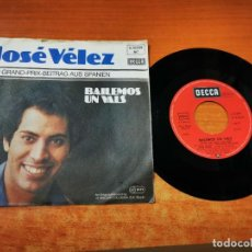 Discos de vinilo: JOSE VELEZ BAILEMOS UN VALS EUROVISION ALEMANIA 1978 SINGLE VINILO DUO DINAMICO MUY RARO. Lote 44322135
