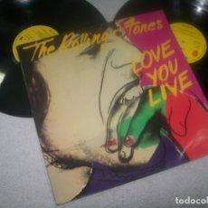 Discos de vinilo: THE ROLLING STONES - LOVE YOU LIVE ..LP - CARPETA ABIERTA 1987 - 10 ANIVERSARIO - DISCO PROMOCIONAL. Lote 276578313
