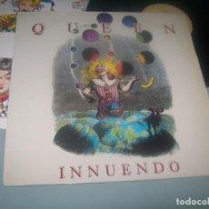 Discos de vinilo: QUEEN - INNUENDO ..LP ORIGINAL .. 1ª EDICION DE 1991 - EMI-ODEON - ESPAÑOL CON LETRAS. Lote 276580613