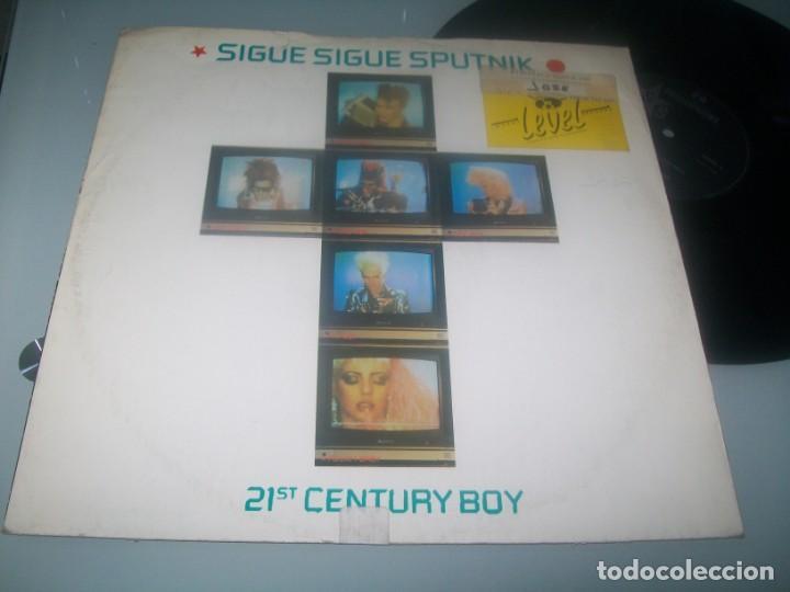 SIGUE SIGUE SPUTNIK - 21 ST. CENTURY BOY ..MAXISINGLE - EXTENDED - 1986 .EDICION .U.K (Música - Discos de Vinilo - Maxi Singles - Punk - Hard Core)