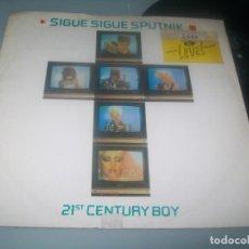 Discos de vinilo: SIGUE SIGUE SPUTNIK - 21 ST. CENTURY BOY ..MAXISINGLE - EXTENDED - 1986 .EDICION .U.K. Lote 276561328