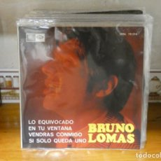 Disques de vinyle: DISCO 7 PULGADAS EP BRUNO LOMAS LO EQUIVOCADO 1966 MUY BUEN ESTADO GENERAL. Lote 276598843