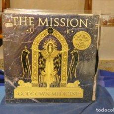 Disques de vinyle: LP THE MISSION U.K. GOD´S OWN MEDICINE 1987 MUY BUEN ESTADO DE VINILO. Lote 276599623