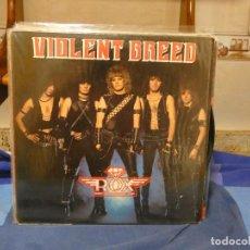 Disques de vinyle: LP HEAVY METAL ROX VIOLENT BREED 1983 MUY BUEN ESTADO GENERAL MUSIC FOR NATIONS JEBI METAL. Lote 276599923