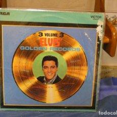 Discos de vinilo: LP ELVIS GOLDEN RECORDS VOL 3 LABEL LIMA VINILO BUEN ESTADO AÑOS 70. Lote 276600263