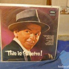 Disques de vinyle: LP UK 60S OBSECENAMENTE PRECIOSO Y ANTIGUO SOLO MUY LEVE USO THIS IS FRANK SINATRA. Lote 276600928