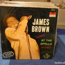 Disques de vinyle: DOBLE LP JAMES BROWN LIVE AT THE APOLLO FRANCIA PRIVILEGE POL 390 DISCOS DECENTES LEVES LINEAS. Lote 276601513