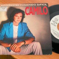 Discos de vinilo: CAMILO SESTO (ME LO ESTAS PONIENDO DIFICIL) SINGLE ESPAÑA 1986 PROMO (EPI24). Lote 276646943