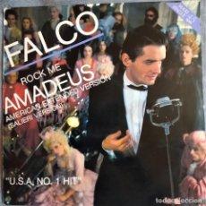 Discos de vinilo: FALCO – ROCK ME AMADEUS (AMERICAN EXTENDED VERSION)(SALIERI VERSION) ESPAÑA 1986 (EX_EX). Lote 276656688