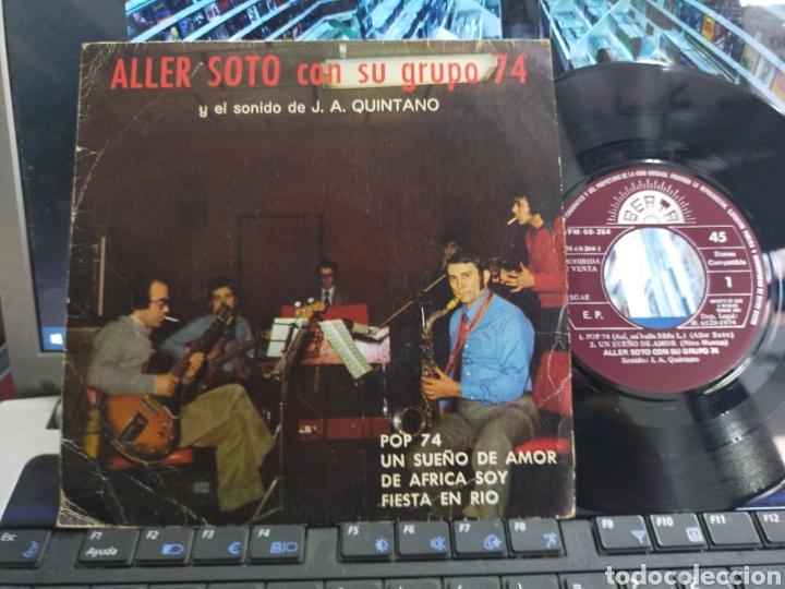 ALLER SOTO CON SU GRUPO 74 EP PROMOCIONAL POP 74 + 3 (Música - Discos de Vinilo - EPs - Solistas Españoles de los 70 a la actualidad)