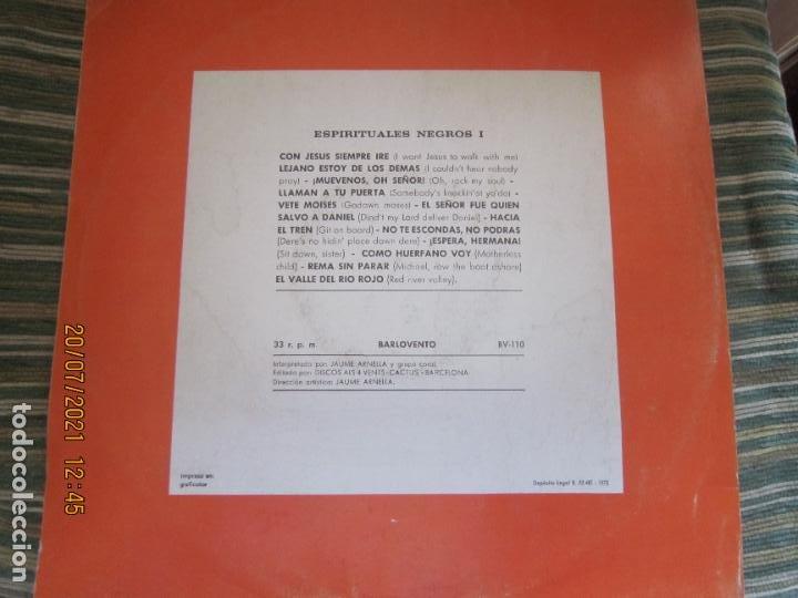 Discos de vinilo: ESPIRITUALES NEGROS VOLUMEN 1 LP - JAUME ARNELLA - ORIGINAL ESPAÑOL -DISCOS ALL 4 VENTS 1972 STEREO - Foto 2 - 276667038