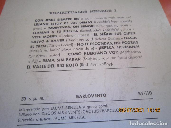Discos de vinilo: ESPIRITUALES NEGROS VOLUMEN 1 LP - JAUME ARNELLA - ORIGINAL ESPAÑOL -DISCOS ALL 4 VENTS 1972 STEREO - Foto 3 - 276667038