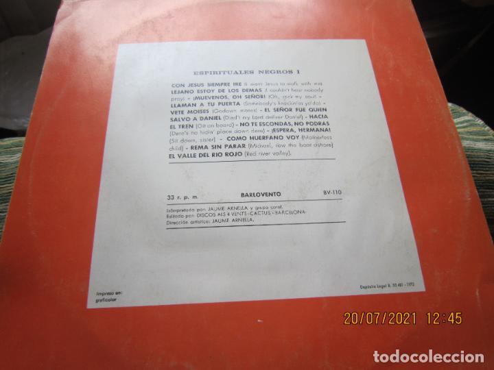 Discos de vinilo: ESPIRITUALES NEGROS VOLUMEN 1 LP - JAUME ARNELLA - ORIGINAL ESPAÑOL -DISCOS ALL 4 VENTS 1972 STEREO - Foto 4 - 276667038