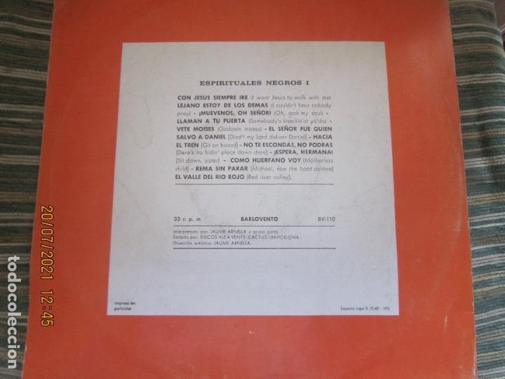 Discos de vinilo: ESPIRITUALES NEGROS VOLUMEN 1 LP - JAUME ARNELLA - ORIGINAL ESPAÑOL -DISCOS ALL 4 VENTS 1972 STEREO - Foto 11 - 276667038