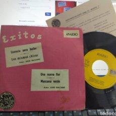 Discos de vinilo: SALGADO Y SU GRUPO DÉCIMO EP PROMOCIONAL LICENCIA PARA BAILAR + 3 1975 MÁS TARJETA PROMO AUDIO & VID. Lote 276668098