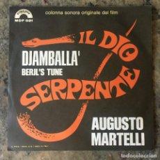 Discos de vinil: AUGUSTO MARTELLI - DJAMBALLÀ / BERYLS TUNE . SINGLE . 1971 ITALIA. Lote 276674953