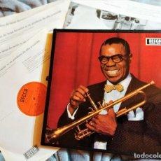Discos de vinilo: LOUIS ARMSTRONG - SATCHMO (UNA AUOBIOGRAFÍA MUSICAL DE LOUIS ARMSTRONG), 4LP BOX, DECCA1966, (NM_NM). Lote 276679958