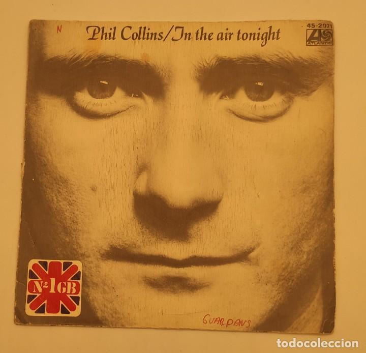 """Discos de vinilo: Vinilo de 7 pulgadas de Phil Collins que contiene """"in the air tonight"""" y """"the roof is leaking"""". - Foto 2 - 276680838"""