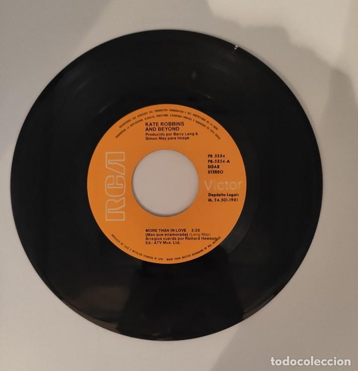 """Discos de vinilo: Vinilo de 7 pulgadas de Kate Robbins que contiene """"more than in love"""" y """"now"""". Discográfica: RCA. - Foto 3 - 276684553"""