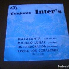 Discos de vinilo: EP : CONJUNTO INTER'S / MARABUNTA + 3 ED SAPIN 1974 PROMO RARO EP EX. Lote 276687733