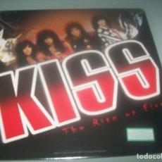 Discos de vinilo: KISS - THE RITZ ON FIRE 1988 BEST OF ..LIVE RADIO BROADCAST ...LP NUEVO PRECINTADO. Lote 276696608