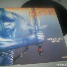 Discos de vinilo: SAXON - STRONG ARM METAL ..LP DE 1984 - EDICION FRANCIA - BUEN ESTADO - CARRERE. Lote 276698278