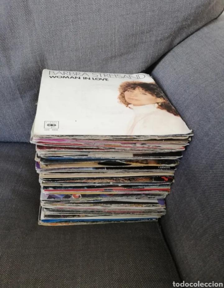 Discos de vinilo: Lote 72 discos vinilos 45 RPM 2 caras artistas nacionales e internacionales - 45 tours 2 titres - Foto 2 - 276699208