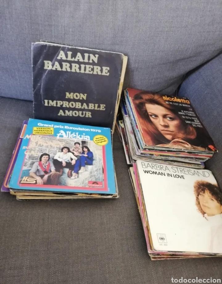 Discos de vinilo: Lote 72 discos vinilos 45 RPM 2 caras artistas nacionales e internacionales - 45 tours 2 titres - Foto 3 - 276699208