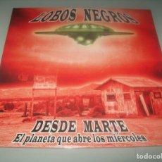 Disques de vinyle: LOBOS NEGROS - DESDE MARTE - EL PLANETA QUE ABRE LOS MIERCOLES ..LP DE 2019 - NUEVO LOLLIPOP. Lote 276708348