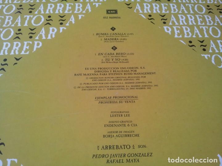 Discos de vinilo: Arrebato - Rumba Canalla - Maxisingle original Emi españa 1992 - Foto 3 - 276724638