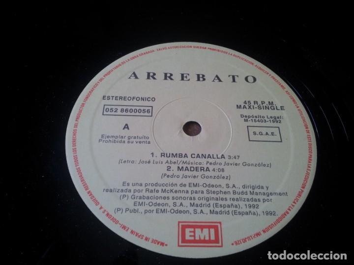 Discos de vinilo: Arrebato - Rumba Canalla - Maxisingle original Emi españa 1992 - Foto 5 - 276724638