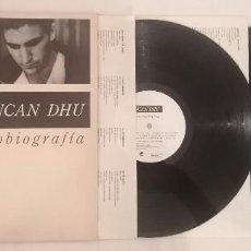 Disques de vinyle: DISCO VINILO DUNCAN DHU AUTOBIOGRAFÍA LP 1989. Lote 276725298