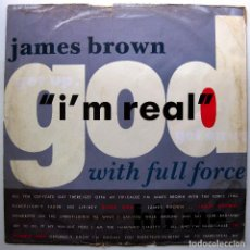 Discos de vinilo: JAMES BROWN WITH FULL FORCE - I'M REAL - MAXI SCOTTI BROS. RECORDS 1988 UK BPY. Lote 276725463