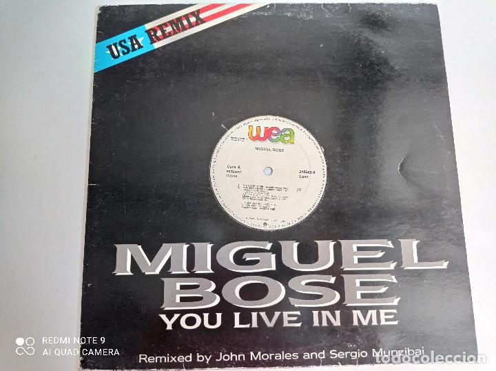 MIGUEL BOSE -YOU LIVE IN ME - MAXI SINGLE ESPAÑA WEA 1986 // USA REMIX DISCO DE VINILO (Música - Discos de Vinilo - Maxi Singles - Solistas Españoles de los 70 a la actualidad)