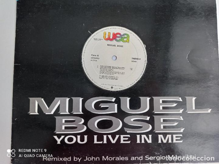 Discos de vinilo: MIGUEL BOSE -You Live In Me - MAXI SINGLE ESPAÑA WEA 1986 // USA REMIX DISCO DE VINILO - Foto 2 - 276727913