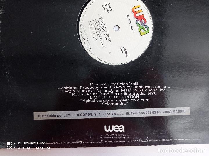Discos de vinilo: MIGUEL BOSE -You Live In Me - MAXI SINGLE ESPAÑA WEA 1986 // USA REMIX DISCO DE VINILO - Foto 6 - 276727913