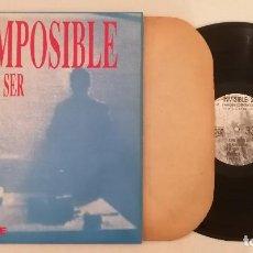 Disques de vinyle: DISCO VINILO ES IMPOSIBLE NO PUEDE SER MAXI SINGLE 1990. Lote 276731283