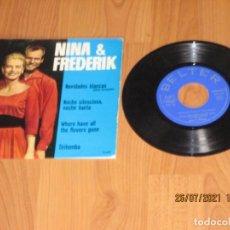 Discos de vinilo: NINA & FREDERIK - NAVIDADES BLANCAS - EP - SPAIN - BELTER - L -. Lote 276731813