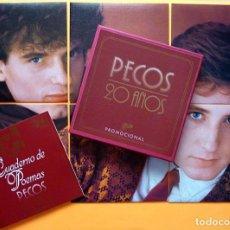 Disques de vinyle: PECOS: 20 AÑOS -ESTUCHE PROMOCIONAL EDICIÓN LIMITADA -6 SINGLES+CUADERNO POEMAS-1981 -EPIC- NUEVO(M). Lote 276735948
