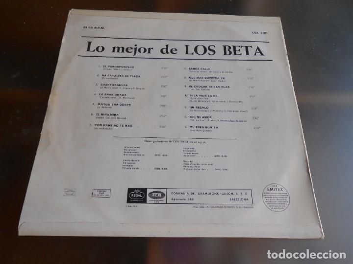 Discos de vinilo: BETA, LOS - LO MEJOR -, LP, EL POROMPOMPERO + 13, AÑO 1967 - Foto 2 - 276744248