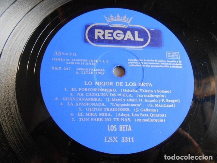 Discos de vinilo: BETA, LOS - LO MEJOR -, LP, EL POROMPOMPERO + 13, AÑO 1967 - Foto 4 - 276744248
